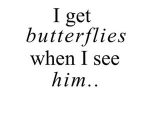 love, butterfly, and him image