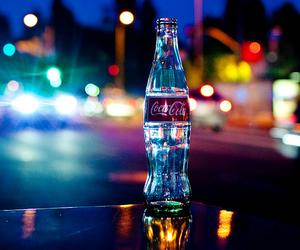 coca cola, light, and city image
