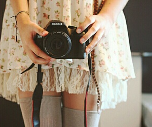 girl, canon, and camera image