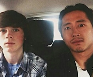 the walking dead, chandler riggs, and steven yeun image