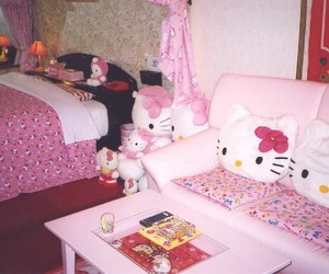 hello kitty, bedroom, and grunge image