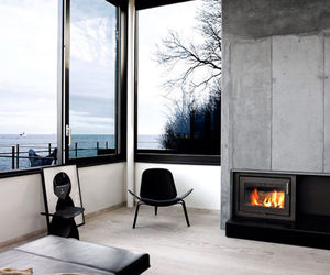 interior, fireplace, and home image