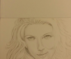 celebrity, drawing, and pencil image