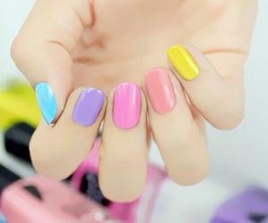 nails, nail art, and pastels image