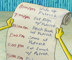 spongebob, patrick, and list image