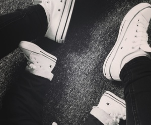 baby, converse, and partnerlook image