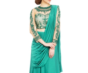 embroidery, gowns, and saree image