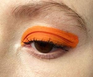 orange, aesthetic, and makeup image