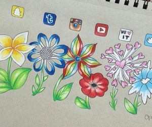 flowers, twitter, and instagram image