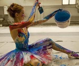 ballet, dance, and paint image