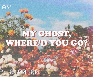 flowers, vintage, and ghost image