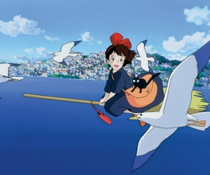 kiki's delivery service, anime, and studio ghibli image