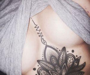 big, tattoo, and underboob image