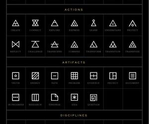 tattoo, glyphs, and symbol image