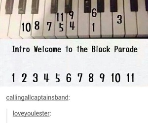 my chemical romance, mcr, and piano image