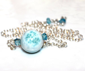 etsy, simple necklace, and ball necklace image