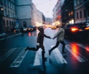 crazy, rain, and run away image