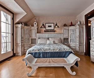bed, bedroom, and canada image