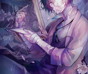 bungou stray dogs, anime, and dazai osamu image