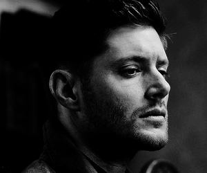 Jensen Ackles, supernatural, and black and white image