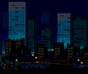 city, pixel, and night image