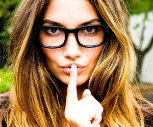 Lily Aldridge, glasses, and model image