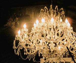 chandelier, light, and vintage image