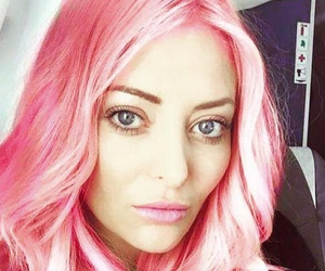 hair styles, makeup, and pink image