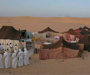 arab, desert, and gathering image
