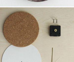 diy, clock, and moon image