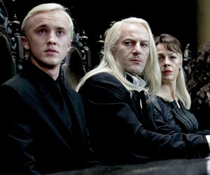 draco malfoy, harry potter, and lucius malfoy image