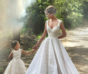 dress, mother, and daughter image