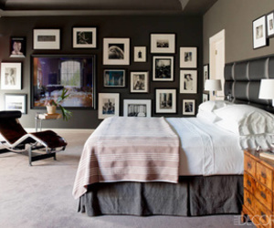 bedroom, interior, and art image