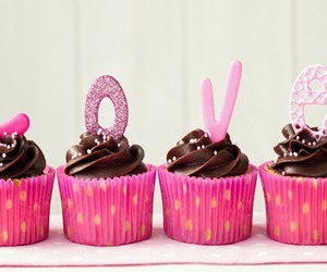 love, cupcake, and pink image