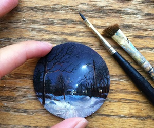 art, snow, and winter image