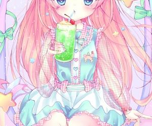 anime, art girl, and cute baby image