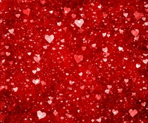 red, wallpaper, and hearts image