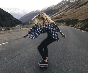 skate, skateboarding, and skateboard image