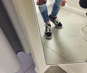 boyfriend jeans, H&M, and jeans image