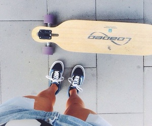 cali, girl, and longboard image