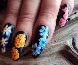 spring nails, spring nail art, and spring nail art designs image