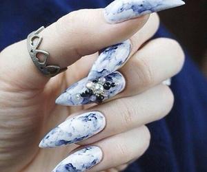 nails, art, and beauty image