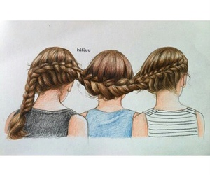 girls, friends, and art image