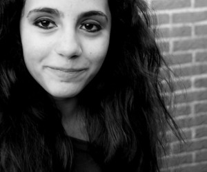 black and white, photography, and brown hair image
