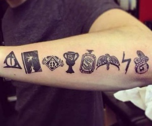 harry potter, tattoo, and tatoo image