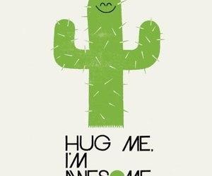 hug, cactus, and awesome image