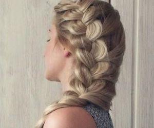 blonde, braid, and bayalage image