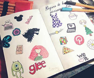 colors, draw, and glee image