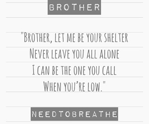 brother, music, and quote image