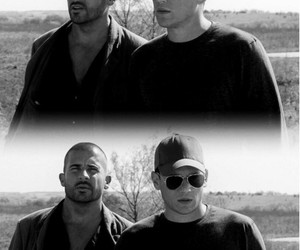 lincoln burrows, dominic purcell, and prison break image